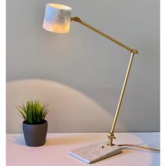Matlight Milano Italian Mid Century Modern Style White Marble Brass Flamingo Desk Table Lamp - 1739336
