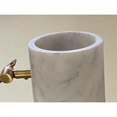 Matlight Milano Italian Mid Century Modern Style White Marble Brass Flamingo Desk Table Lamp - 1739338