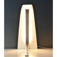 Matlight Milano S Rubertelli for Matlight Italian White Marble and Bronzed Aluminum Table Lamp - 1614310