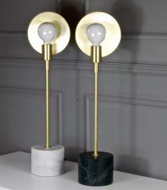 Matlight Milano Vanessa Bespoke Minimalist Italian White Marble Satin Brass Modern Table Lamp - 2015115