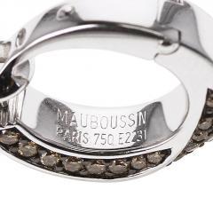 Mauboussin MAUBOUSSIN CHAMPAGNE DIAMOND PAVE EARRINGS 18 KARAT WHITE GOLD - 1964940