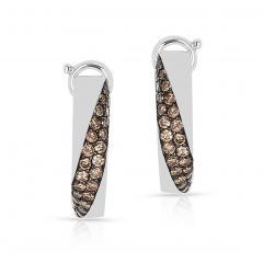 Mauboussin MAUBOUSSIN CHAMPAGNE DIAMOND PAVE EARRINGS 18 KARAT WHITE GOLD - 1964942