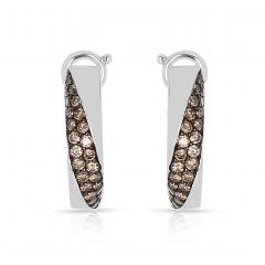 Mauboussin MAUBOUSSIN CHAMPAGNE DIAMOND PAVE EARRINGS 18 KARAT WHITE GOLD - 1964950