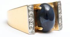 Mauboussin Mauboussin Gold Ring with Sapphire and Diamonds - 221292