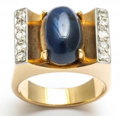 Mauboussin Mauboussin Gold Ring with Sapphire and Diamonds - 221298