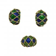 Mauboussin Mauboussin Paris Enameled Earrings and Ring - 633501