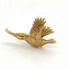 Mauboussin Mauboussin Pheasant Brooch Yellow Gold 18 Carat and Diamond Eye Pin - 1160661