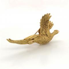 Mauboussin Mauboussin Pheasant Brooch Yellow Gold 18 Carat and Diamond Eye Pin - 1160663