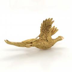 Mauboussin Mauboussin Pheasant Brooch Yellow Gold 18 Carat and Diamond Eye Pin - 1160665