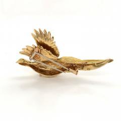 Mauboussin Mauboussin Pheasant Brooch Yellow Gold 18 Carat and Diamond Eye Pin - 1160667