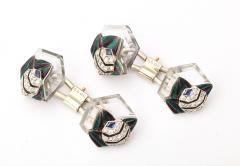 Mauboussin Rock Crystal Enamel Diamond Cufflinks by Mauboussin - 554524
