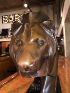 Max Le Verrier French Art Deco Sculpture of a Walking Lion King by Max Le Verrier - 1386890