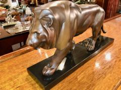 Max Le Verrier French Art Deco Sculpture of a Walking Lion King by Max Le Verrier - 1386891
