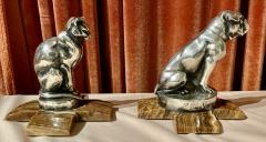 Max Le Verrier Max Le Verrier Bookends Statues of Dog and Cat French Art Deco - 1748815