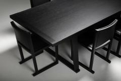Maxalto Citterio black oak dining table Lucullo for Maxalto 2000s - 1911755