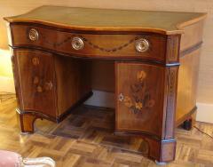 Mayhew Ince George III period harewood and marquetry bureau table - 2042502