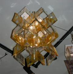 Mazzega Murano 1960s glass chandelier made of assembled plaques Mazzega in Murano - 909460