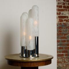Mazzega Murano An Italian Mazzega Murano style glass chrome five light table lamp circa 1970 - 2033543