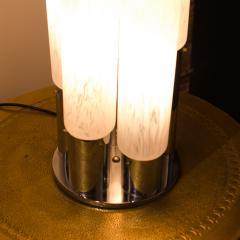 Mazzega Murano An Italian Mazzega Murano style glass chrome five light table lamp circa 1970 - 2033583