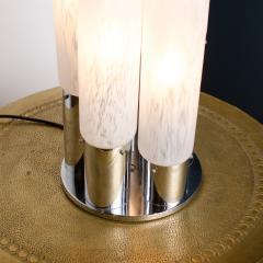 Mazzega Murano An Italian Mazzega Murano style glass chrome five light table lamp circa 1970 - 2033596
