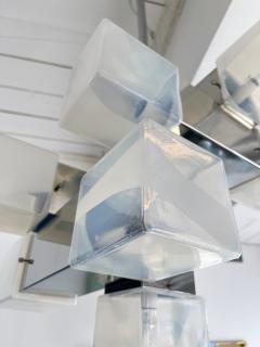 Mazzega Murano Chandelier Murano Glass Cube and Metal by Mazzega Italy 1970s - 2018859