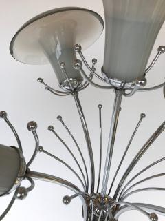 Mazzega Murano Floor Lamp Flower Murano Glass and Metal Italy 1970s - 522122