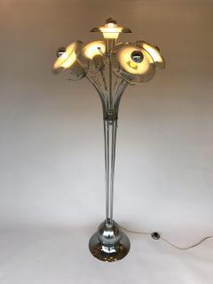Mazzega Murano Floor Lamp Flower Murano Glass and Metal Italy 1970s - 522123
