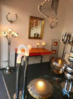 Mazzega Murano Floor Lamp Flower Murano Glass and Metal Italy 1970s - 522135