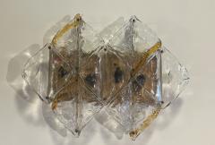 Mazzega Murano Italian Modern Handblown Glass and Brass Wall Light Mazzega - 2098013