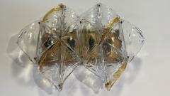 Mazzega Murano Italian Modern Handblown Glass and Brass Wall Light Mazzega - 2098015