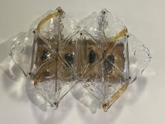 Mazzega Murano Italian Modern Handblown Glass and Brass Wall Light Mazzega - 2098016