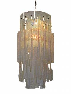Mazzega Murano Italian Modern Iridescent Hand Blown Glass Chandelier - 752549