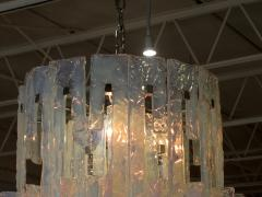 Mazzega Murano Italian Modern Iridescent Hand Blown Glass Chandelier - 752617