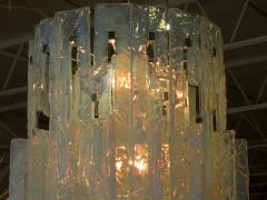 Mazzega Murano Italian Modern Iridescent Hand Blown Glass Chandelier - 752622