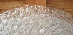 Mazzega Murano Large Mid Century Modern white Murano glass flush mount light by Mazzega 1970s - 1125225