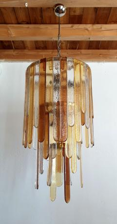 Mazzega Murano Large Murano glass Mid Century Modern dramatic chandelier by Mazzega - 975518