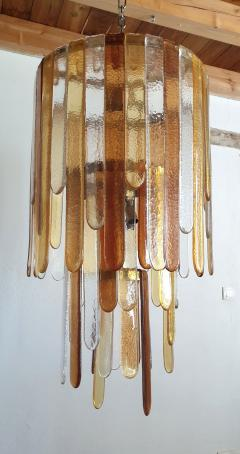 Mazzega Murano Large Murano glass Mid Century Modern dramatic chandelier by Mazzega - 975553