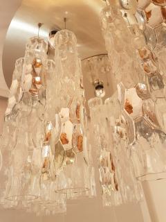 Mazzega Murano Large flush mount light w Murano glass by AV Mazzega Mid Century Modern 1970s - 772853