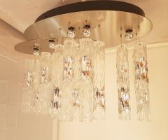 Mazzega Murano Large flush mount light w Murano glass by AV Mazzega Mid Century Modern 1970s - 772876