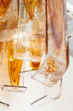 Mazzega Murano Mazzega Clear Amber Flush Mount - 756195