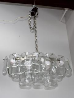 Mazzega Murano Mazzega Clear Glass And Chrome Oval Chandelier - 765394