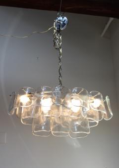 Mazzega Murano Mazzega Clear Glass And Chrome Oval Chandelier - 765395