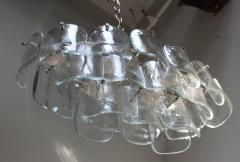 Mazzega Murano Mazzega Clear Glass And Chrome Oval Chandelier - 765396