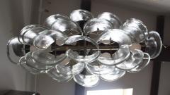 Mazzega Murano Mazzega Clear Glass And Chrome Oval Chandelier - 765397