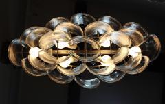 Mazzega Murano Mazzega Clear Glass And Chrome Oval Chandelier - 765399