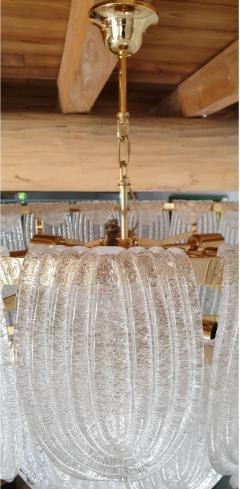 Mazzega Murano Mid Century Modern Large Murano Glass Chandelier Mazzega style Italy 1970s - 1963740