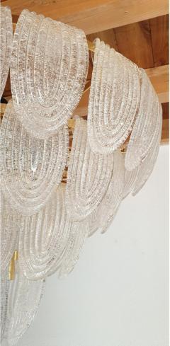 Mazzega Murano Mid Century Modern Large Murano Glass Chandelier Mazzega style Italy 1970s - 1963741