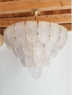 Mazzega Murano Mid Century Modern Large Murano Glass Chandelier Mazzega style Italy 1970s - 1963743