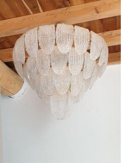 Mazzega Murano Mid Century Modern Large Murano Glass Chandelier Mazzega style Italy 1970s - 1963744