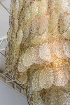 Mazzega Murano Monumental Italian Modern Amber Glass Chandelier by Mazzega - 364164